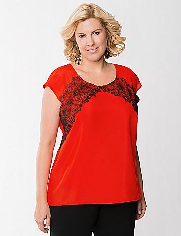 Lace front blouse