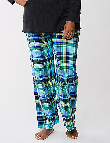Plaid twill sleep pant