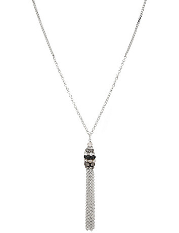 Beaded tassel necklace by Lane Bryant