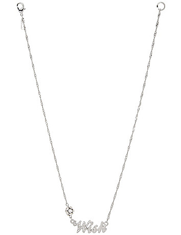 Wish necklace by Lane Bryant