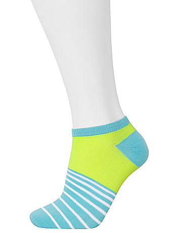 Striped low cut socks 3 pack by Lane Bryant