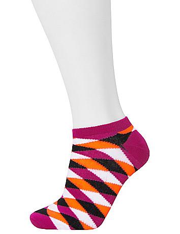 Neon plaid sport socks 3-pack