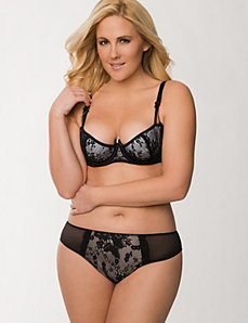 Lace Half Cup Bra Ensemble