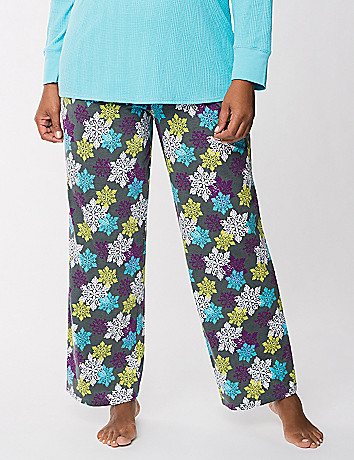 Snowflake knit sleep pant