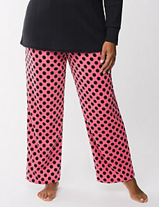 Polka dot fleece sleep pant