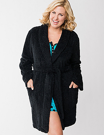 Sparkle fleece robe