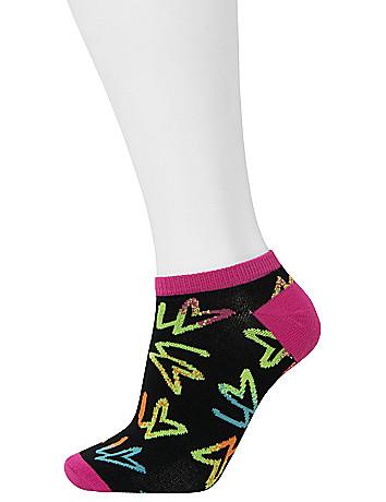 Printed Sport Socks 3 Pack by Lane Bryant