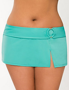 Swim skirt with ring accent