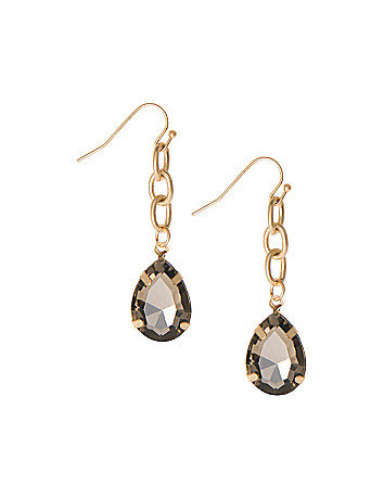 Teardrop chain earrings by Lane Bryant