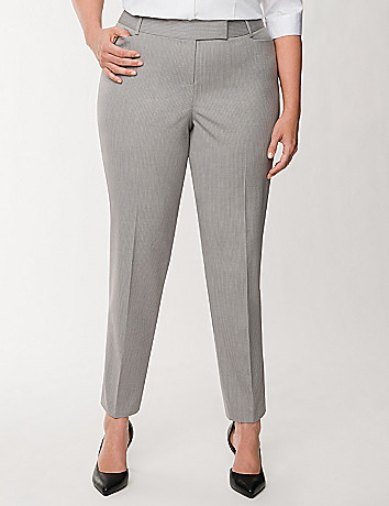 Lena Tailored Stretch double stripe ankle pant