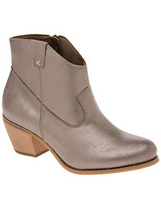 Metallic ankle boot