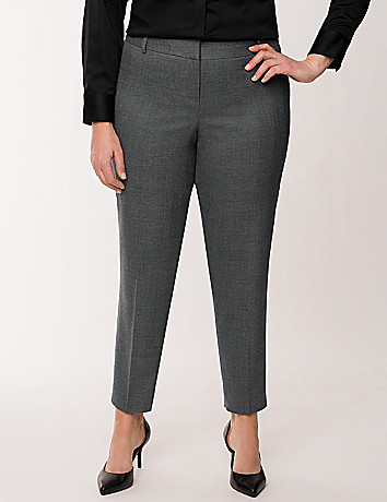 Lena Tailored Stretch muted plaid ankle pant