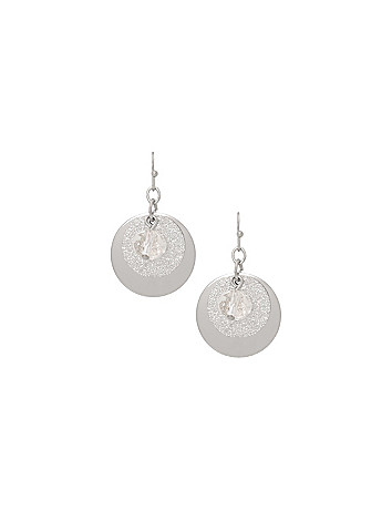 Disc and bead earrings by Lane Bryant