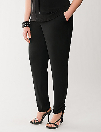 Lane Collection drawstring cuff pant