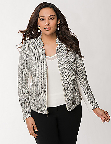 Dash boucle jacket by Lane Bryant