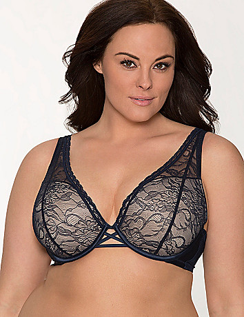 Triangle lace demi bra