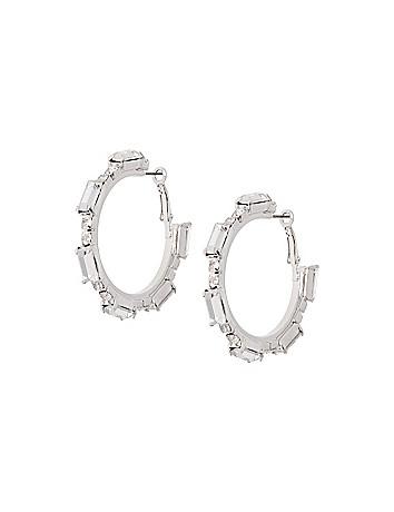 Baguette hoop earrings by Lane Bryant