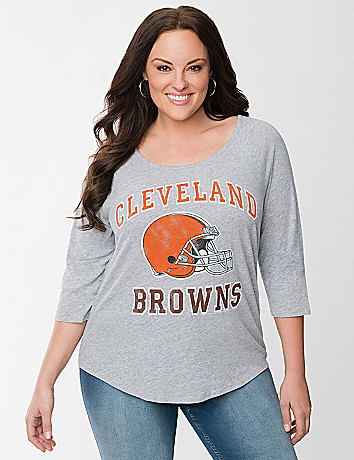 Cleveland Browns baseball tee