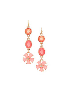 Flower drop earrings by Lane Bryant
