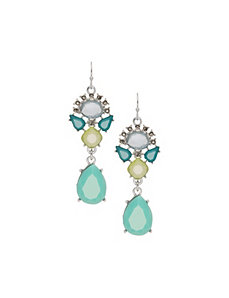 Mixed stone teardrop earrings by Lane Bryant