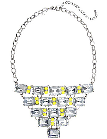 Neon pop bib necklace by Lane Bryant