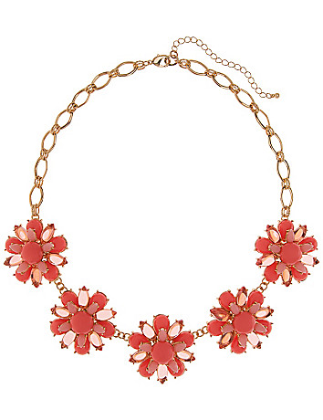Cabochan flower necklace by Lane Bryant