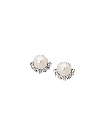 Faux pearl & Stone Earrings by Lane Bryant