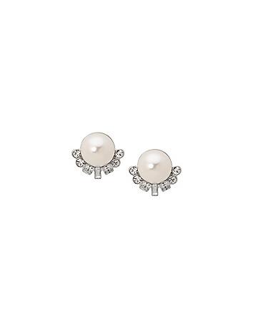 Faux pearl & Stone Earrings by Lane Bryant