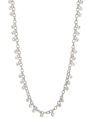 Cubic zirconium link necklace by Lane Bryant