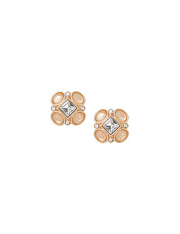 Geo cubic zirconium earrings by Lane Bryant