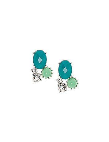 Stone cluster earrings by Lane Bryant