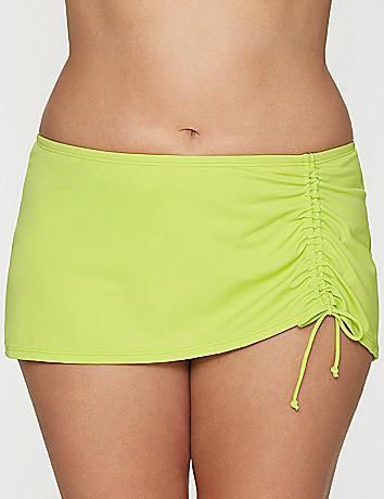 Drawstring swim skirt