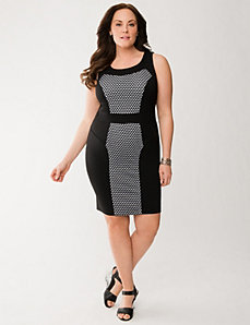 Lane Collection perforated sheath dress