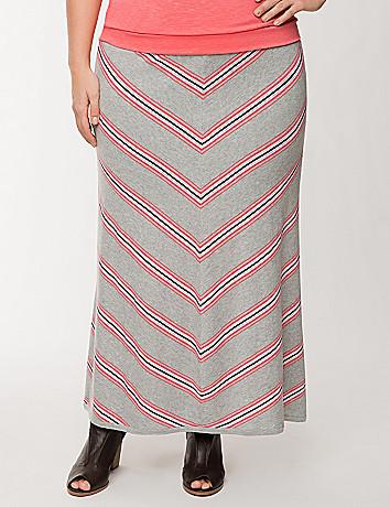 Chevron sweater maxi skirt