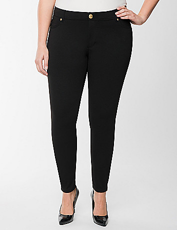 Zip ankle ponte skinny pant by Seven7