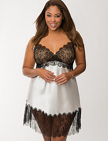 Tru to You satin & lace chemise