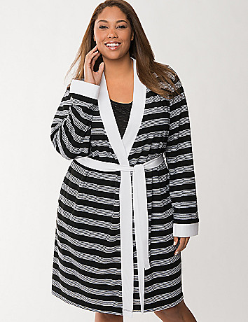 Striped terry robe