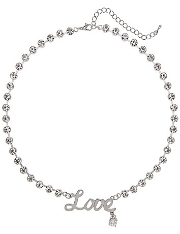 Love cubic zirconium necklace by Lane Bryant