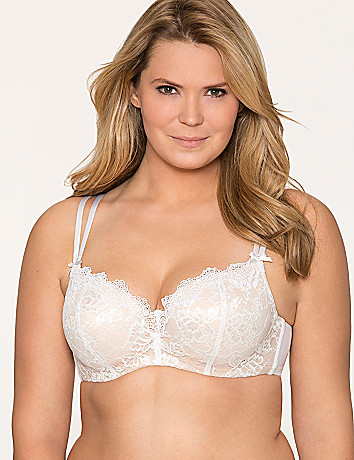 Beautiful lace bridal balconette bra