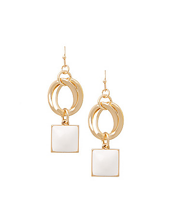 Double sided drop earrings by Lane Bryant
