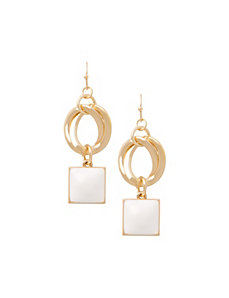 Double-sided drop earrings by Lane Bryant