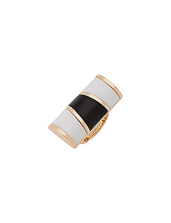 Black & white bar ring by Lane Bryant