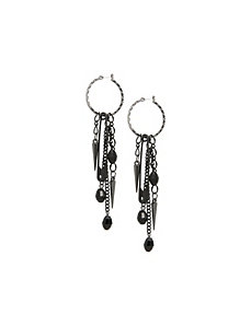 Punk safety pin drop earrings by Lane Bryant