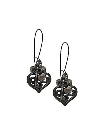 Heart & Key Drop Earrings by Lane Bryant