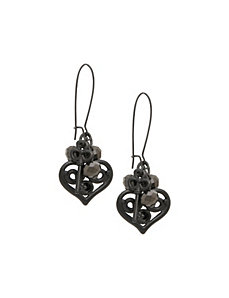 Heart & key A-wire earrings by Lane Bryant