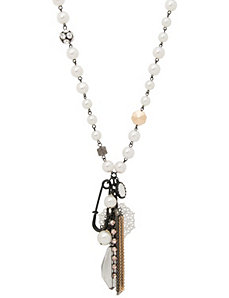 Faux pearl punk pendant necklace by Lane Bryant
