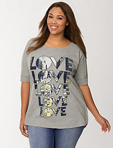 Love split back tee