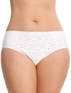 Crocheted cotton hipster panty