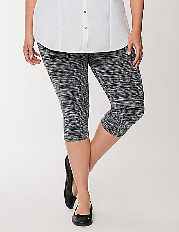 Space Dye Capri Legging by Lane Bryant