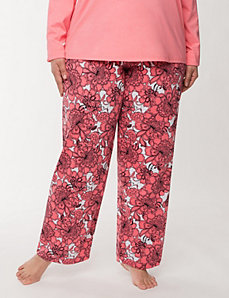 Floral knit sleep pant